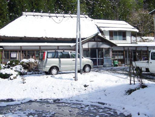 雪が積もった母の実家