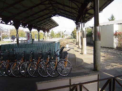 スーパーウルトラローカル線の一畑電鉄。今にして思えば自転車をレンタルすれば良かったかも。