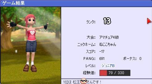 -17なのに13位?!(T-T;