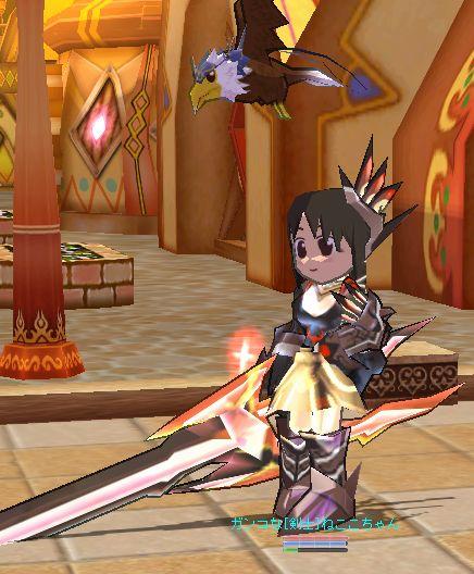 剣神装備を身につけた、現在のフルスペックねここちゃんだ!